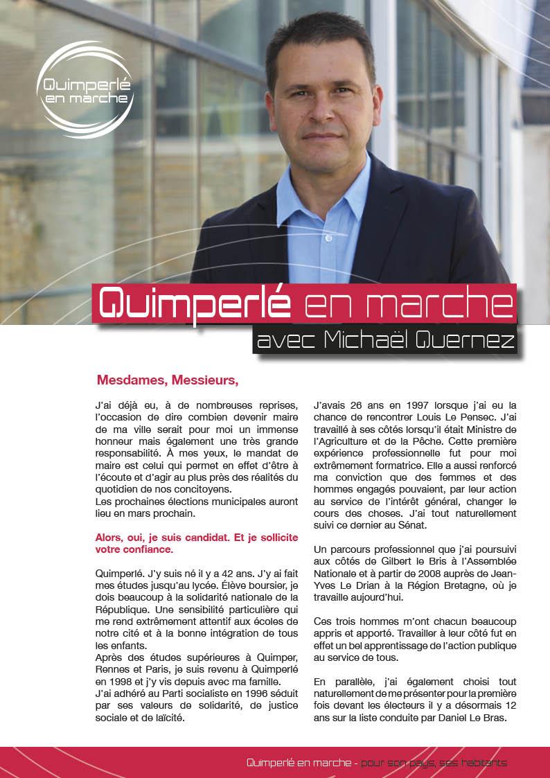Candidature aux municipales de mars 2014. 11 octobre 2013